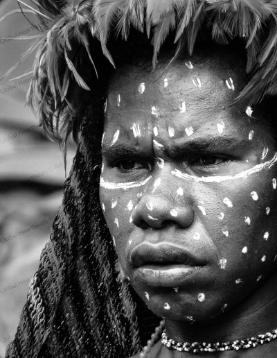 Dani Tribe | Festive tribal face decoration