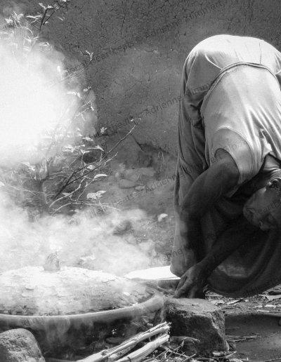 Ethiopië | Cooking traditional Injera