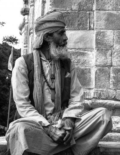 Nepal | Sadhu at the Pahsupathinath temple